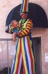 Stretch the Stiltwalking Clown