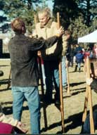 Hand Held wooden stilts