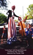 Uncle Sam with Ronald McDonald